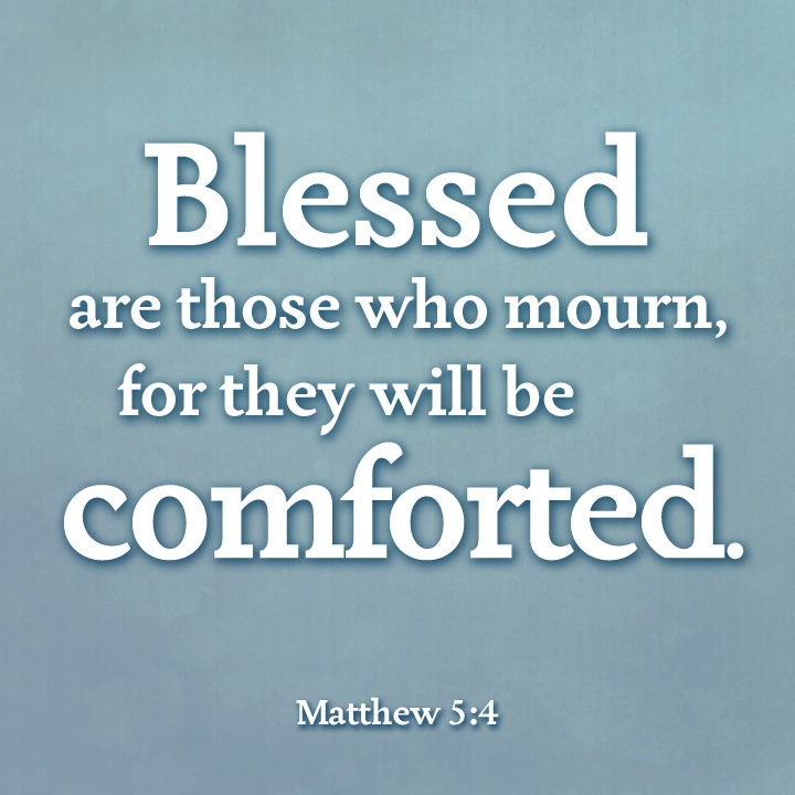 Find comfort in the Lord.