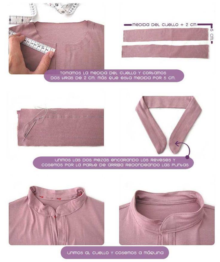 Tutorial paso a paso sobre cómo confeccionar un vestido camisero con patrón incluido (CUELLOS CON FLORES )