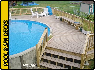 Above Ground Pool Deck Kits | Decks & More Decks - Omaha Nebraska - custom decks for your spa & pool ...