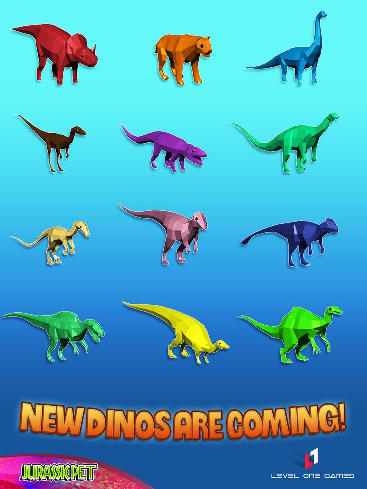 New breeds are available in Jurassic Pet! Collect all on iOS -> http://apple.co/2tkCLmY #indiegame #madewithunity #videogames