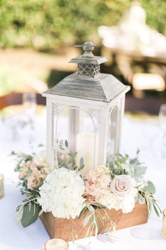 Chic Backyard Garden Wedding Centre De Table Mariage Lanterne