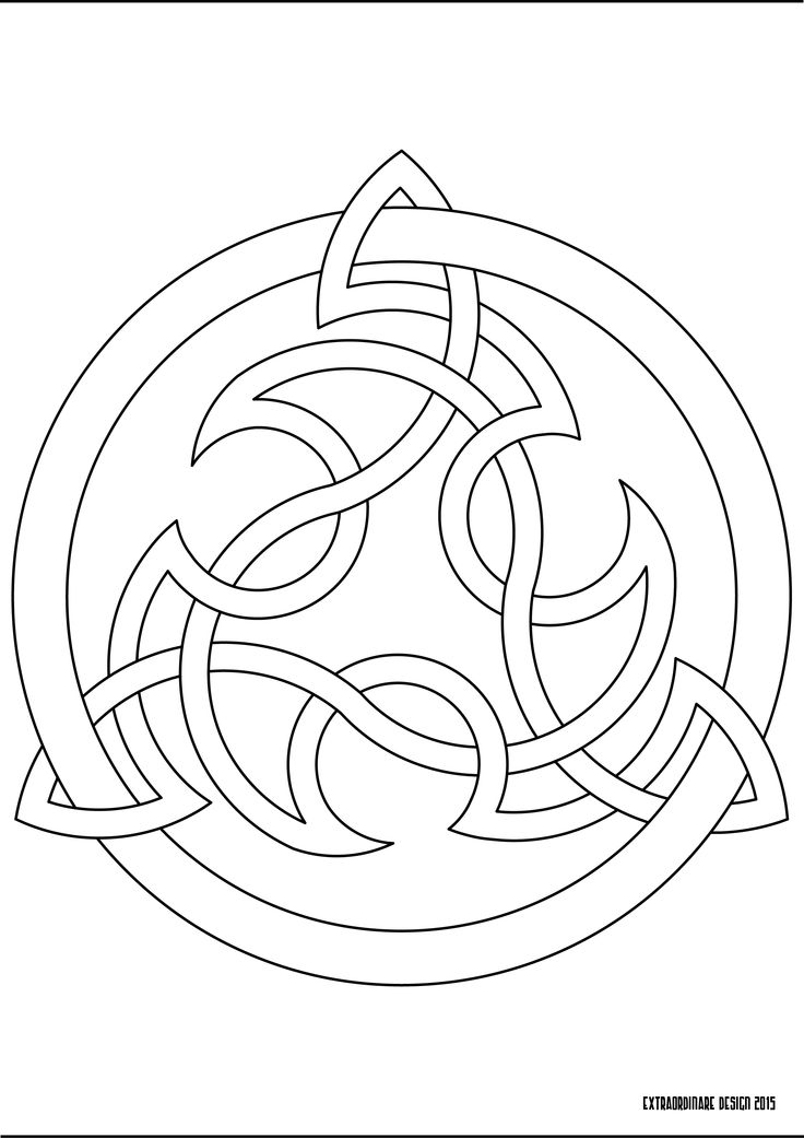 Celtic triangular knot