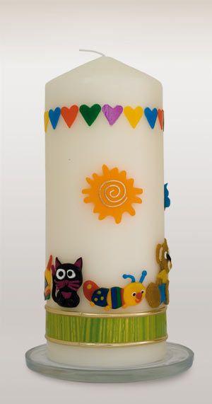 Kerze zur Geburt oder zum Kindergeburtstag