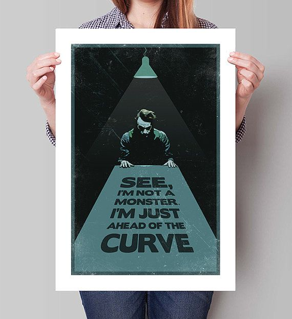 "BATMAN The Dark Knight Inspired Joker ""Ahead of the Curve"" Movie Poster Print - 13""x19"" (33x48 cm)"