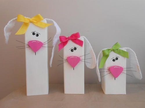 29 2x4 wooden bunnies | Easter Bunny Craft with Floppy Ears