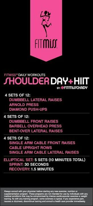 Shoulder Day + HIIT by fitmiss