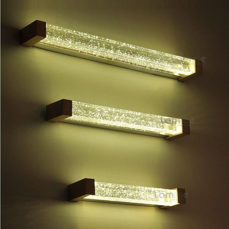 Details About Luxury Crystal High Power LED Bathroom Wall Lights Mirror  Cabinet Wall Lights