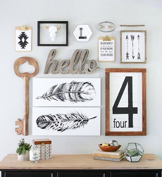 We could post this popular gallery wall every day on our feed and no one would complain  Happiest birthday to our fellow blogger and friend @craftedsparrow today! Love the wall and love her!