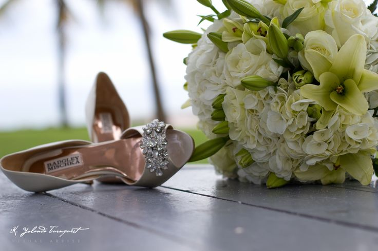 stunning studded wedding shoes