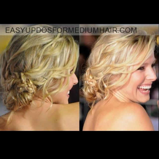 cute hair do for the wedding!: Christian Belle, Wedding Hair, Bridesmaid Hair, Braids Updo, Prom Hair, Messy Buns, Hair Style, Side Buns, Formal Hair