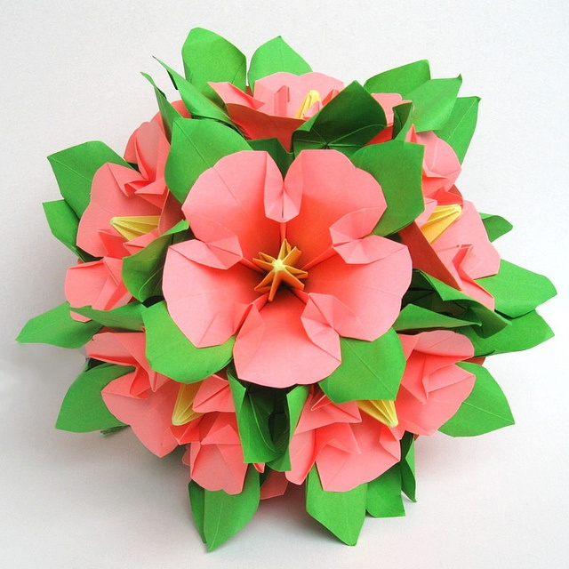 Origami Hibiscus Instructions Origami Tutorial Lets Make It