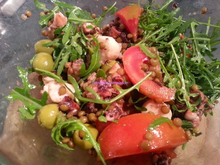 ricetta insalata estiva rucola polpo pomodori