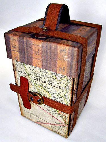 Открытки, как сделать чемодан из открыток