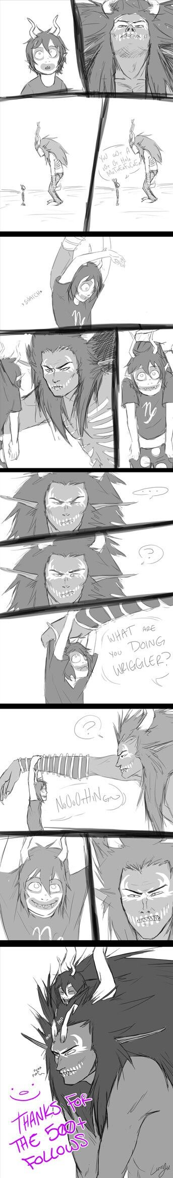 GHB and gamzee. <<< PURR PURR. GHB PURR-PURRED.