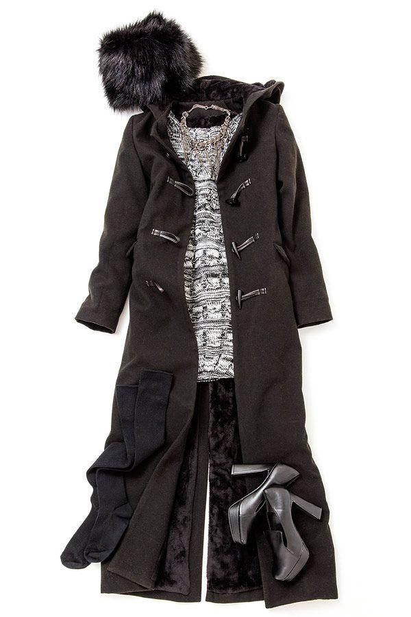 ルミネエスト新宿のアイテムで寒い日の温か&おしゃれコーディネート術のレッスン。箱根駅伝の応援には、ロングのダッフルコートで寒さ対策を抜かりなく! 人気スタイリストMeguさんがシンプル服にトレンド小物を合わせた、今どき感たっぷりのキレ味のあるコーディネートを提案します!