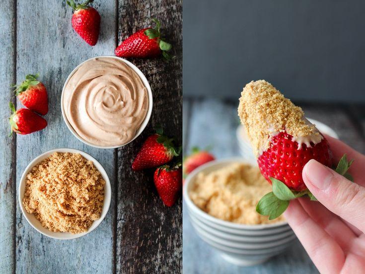 En virkelig lækker og frisk sommer dessert! En chokolade chesecake dip til at dyppe frisk frugt i, mums :-D