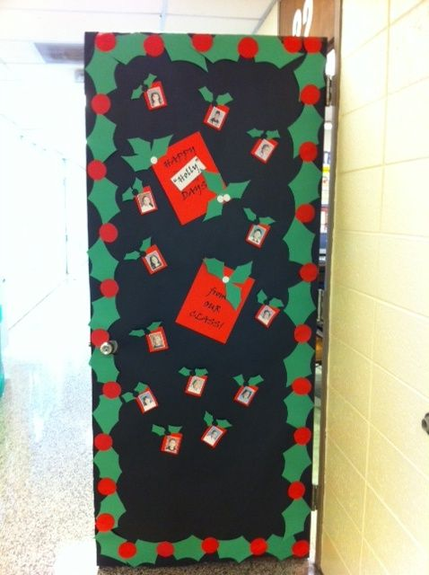Christmas Classroom Decorations Teachers : Christmas holly classroom door smart fab holiday
