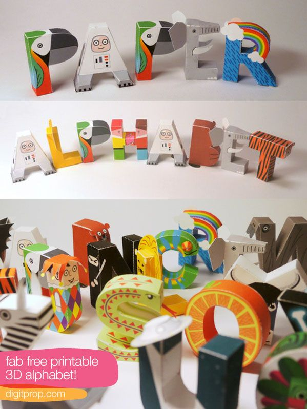 Free Printable 3D Alphabet