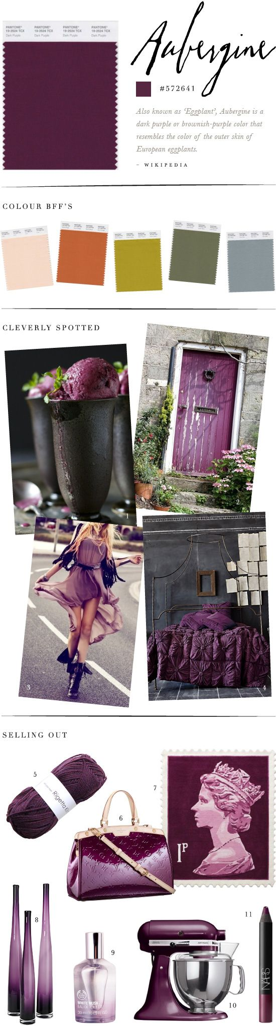 Aubergine!  I LOVE this with the charcoal grey...my bedroom colors eventually!  <3