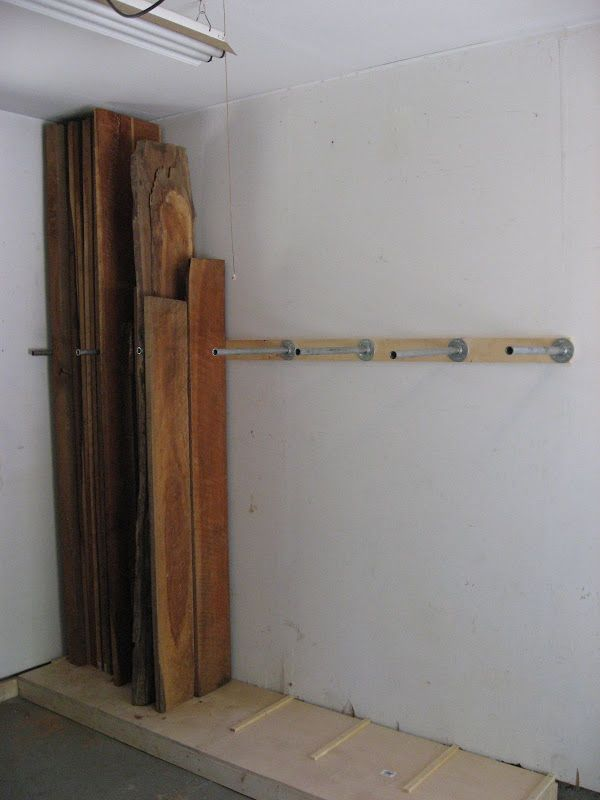 Vertical Lumber Storage Rack