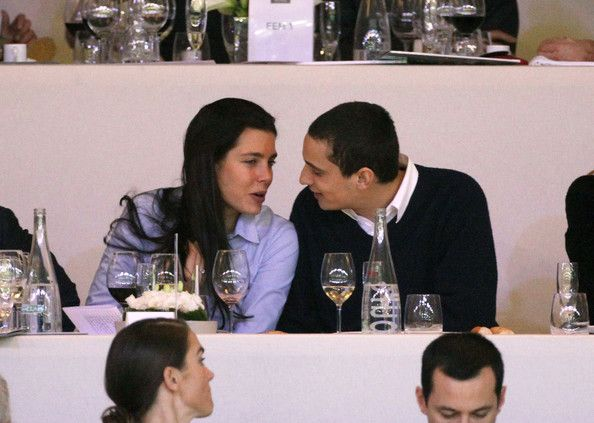 Charlotte Casiraghi and her boyfriend Alexander Dellal cuddle up at the Gucci Masters held at the Palais des Expositions in Villepinte