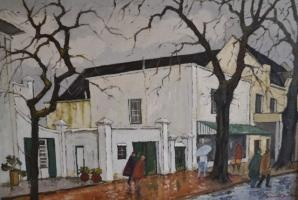 David Botha's Wet Street Scene, one of his iconic works that will be exhibited at Provenance Auction House, Cape Town from 22-28 November 2012