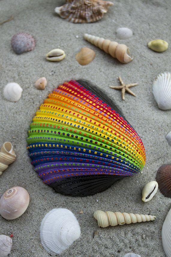 Hand Painted Seashell by ArtworkByTj on Etsy