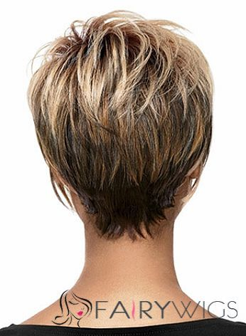 Affordable Short Wavy Blonde African American Lace Wigs for Women 8 Inch