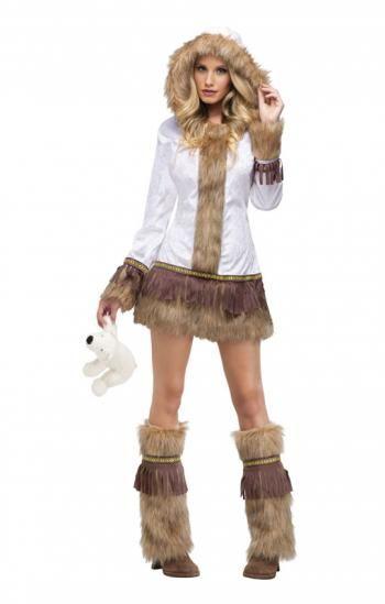 Erotische Eskimo Lady - Das ausgefallenen Eskimo Kostüm lässt den Karneval richtig heiß werden #kostum #karneval