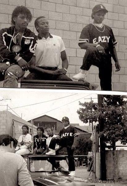 "westcoastchris: "" Early days of N.W.A., Eazy-E, Dr. Dre, Ice Cube & The Arabian Prince """