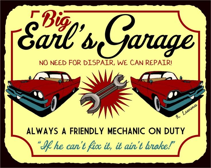 Old Automotive Signs : Images about metal automotive garage signs retro