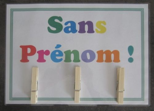 Great idea for displaying kids' work that needs a name written instead of having to chase them up.