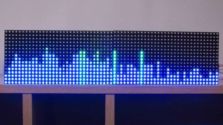 16 x 64 RGB matrix Arduino spectrum analyzer 64 band