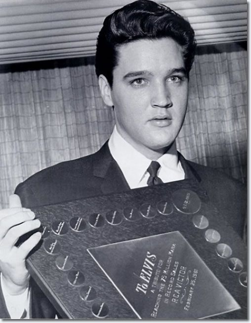 February 25, 1961 : Luncheon at the Hotel Claridge, Memphis, Tennessee Prior to the shows, a luncheon was held in Elvis' honor at the Claridge Hotel in downtown Memphis. The $100-per-plate event raised $17,000, thanks in part to the donation of food and service by the Claridge. RCA presented Elvis with a diamond watch, and a plaque, marking his achievement of selling over 75 million records.