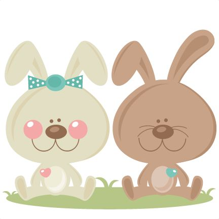 Daily Freebie 2-21-15: Miss Kate Cuttables--Boy and Girl Easter Bunny scrapbook cuts SVG cutting files doodle cut files for scrapbooking clip art clipart doodle cut files for cricut free svg cuts