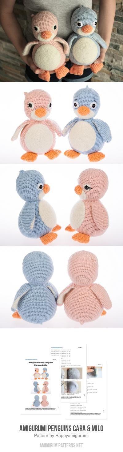 Amigurumi Penguins Cara & Milo amigurumi pattern