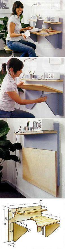 Стол-невидимка. Мебель - трансформер.