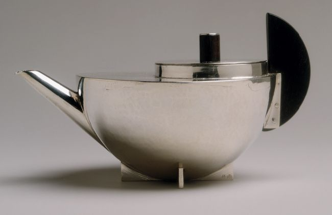 Tea infuser and strainer, ca. 1924 Marianne BRANDT (German, 1893-1983) Silver and ebony