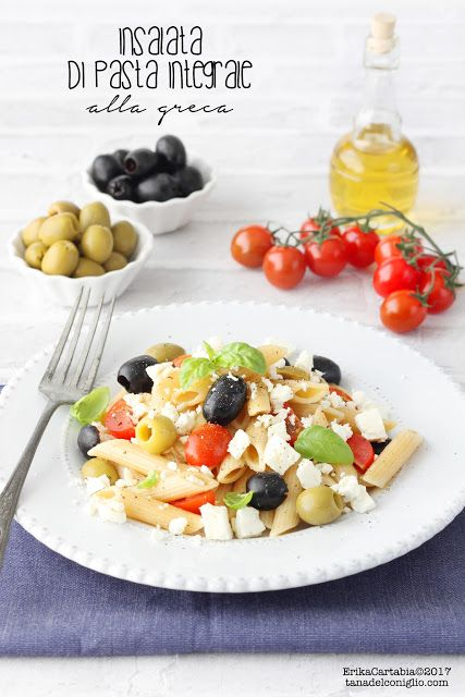 La tana del coniglio: Insalata di pasta integrale alla greca