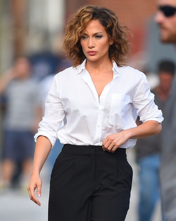 Jennifer Lopez walks to the set of 'Shades of Blue' in College Point, New York - sexiest female cop