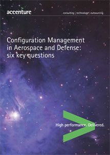 Configuration Management in Aerospace and Defense by Accenture