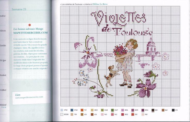 """Agenda 2014 Helene Le Berre """"Les Violettes de Toulouse"""""""