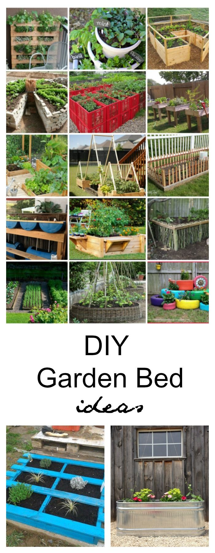 Garden Ideas| Depending upon your space, style, and needs, I have rounded up some DIY Garden Bed Ideas that are sure to help inspire a design that is best for you.