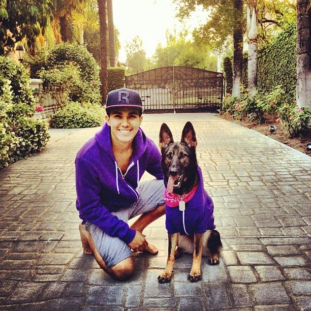 Carlos Pena & Sydney! They have purple hoodies!  HAHA