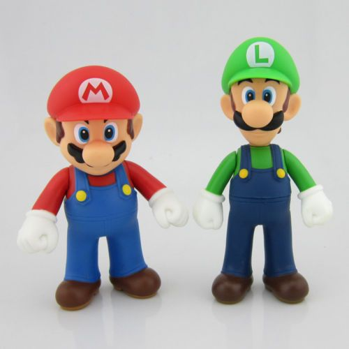 Lot 2 Nintendo New Super Mario Bros Brothers Luigi Toy  eBay