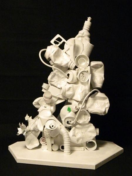 Best 25 trash art ideas on pinterest bottle cap art for Art from waste ideas