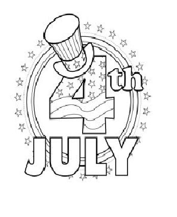 Printable July Coloring Pages 152 Best Holiday 4th Of Art Print Colouring