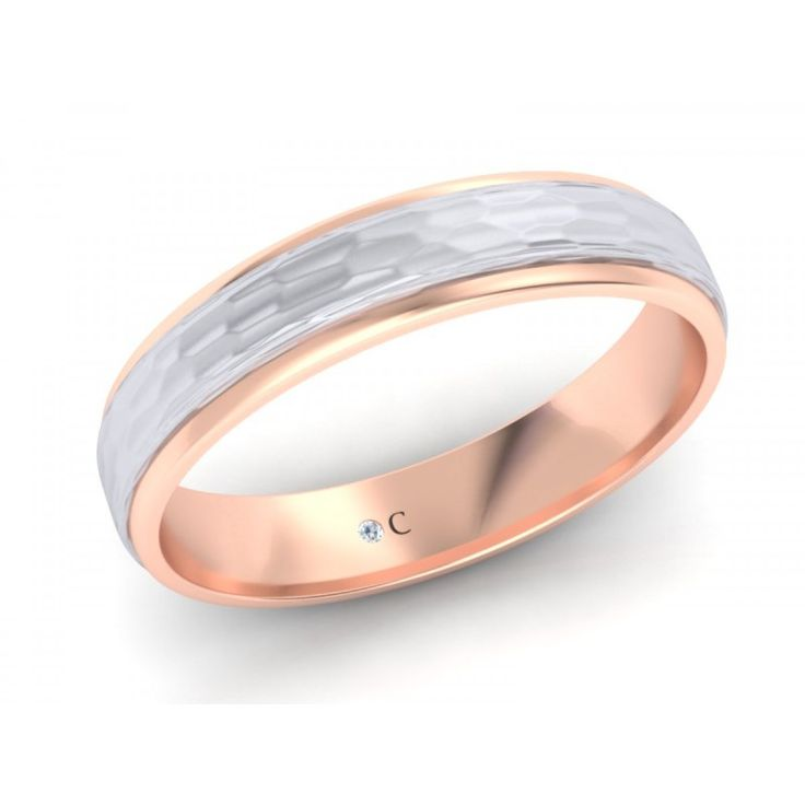 Rose Gold Brushed Men's Wedding Band | Diamond Corporation South Africa