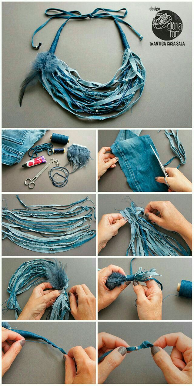 57 best denim - jewelry images on pinterest | accessories, beads