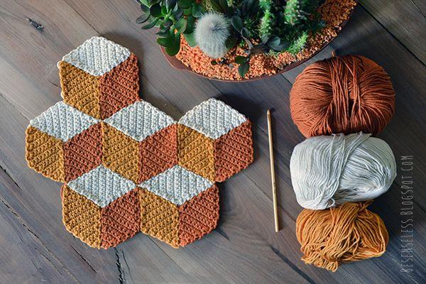 geometric design crochet - besenseless.blogspot.com